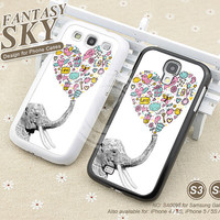 Samsung Galaxy S3 case, Samsung Galaxy S4 case, Elephant, Phone cases, Phone Covers Case for Samsung Galaxy - A0098