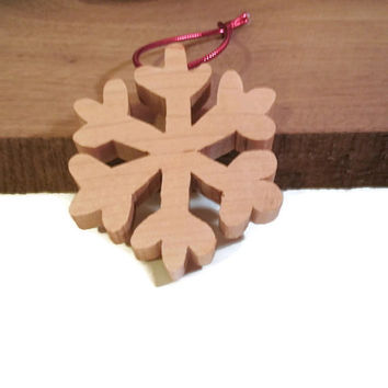 Snowflake  Ornament -  Wooden Decor - READY TO SHIP