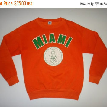New Year Sale Vintage Great Seal University Of MIAMI Logo 7 Sweatshirt