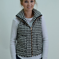 THE VEST INTENTIONS- BLACK/WHITE PLAID
