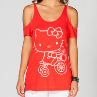 Vans Biker Hello Kitty Tee Red  In Sizes