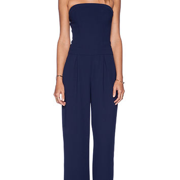 Sam Edelman Strapless Wideleg Jumpsuit in Navy