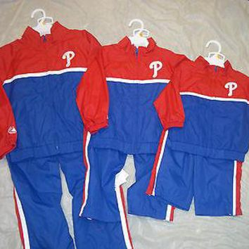 PHILADELPHIA PHILLIES MAJESTIC MLB INFANT/TODDLER/BOYS TRACK SUIT SHIPPING!