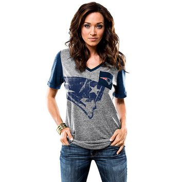 Majestic New England Patriots Break the Limit Tee - Women's, Size: