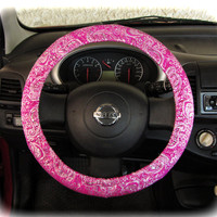 Steering-wheel-cover-for-wheel-car-accessories-Ornament-Pink-Weel-cover