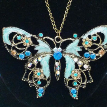 Vintage-Style Hollow Butterfly Necklace from Sara's Super Stock