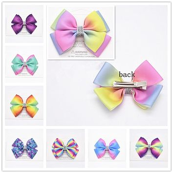 20 color big bow hair clip alligator girl bowknot large iris HAIRBOWS children hair accessories, fashion gifts for children 1pcs