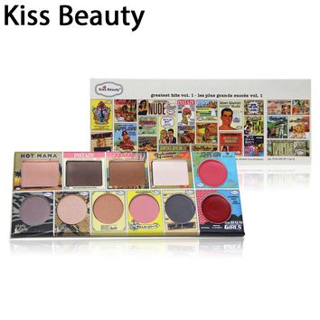 Eyeshadow palette kiss beauty brand 5 eye shadows 2 red lip palette 4 powder hot mama eye shadow make up cosmetics