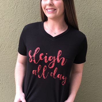 Sleigh All Day Top- Black