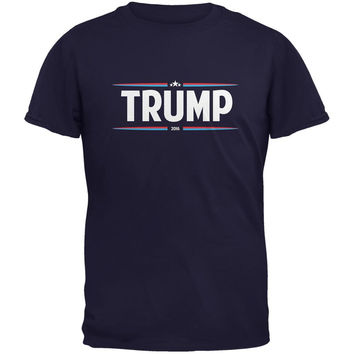Election 2016 - Trump Thin Stripes Navy Adult T-Shirt