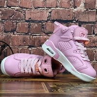 Kids Air Jordan 6 Pink Sneaker Shoe Size US 11C-3Y
