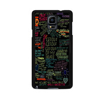 one direction song Samsung Galaxy Note 3 Case