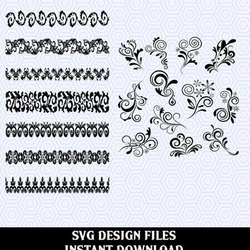 Scroll SVG File Mega Bundle  Collection. SVG Files used for Vinyl cutting and Silhouette Cameo Software, SVG Scroll Vector File