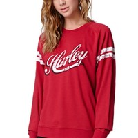 Hurley Buzz Tower Crew Fleece - Womens Hoodie - Red
