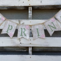 Spring Burlap Banner, Spring Sign, Easter Banner, Easter Photo Prop, Easter Decor, Spring Decor
