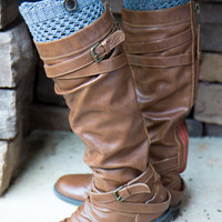 Button Boot Cuff - Gray