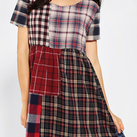 Urban Renewal Patchwork Flannel Dress - Urban Outfitters