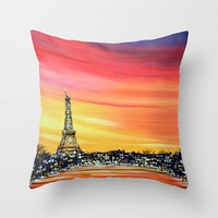 Paris Lights Throw Pillow by Amy Giacomelli | Society6