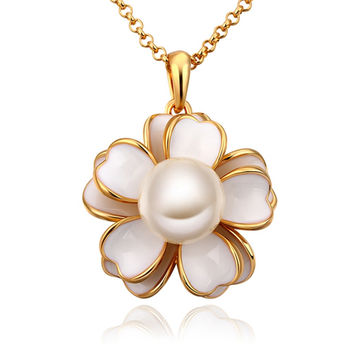 New 2016 Necklace Women jewelry 18K Gold necklaces & pendants RYSHCVVA