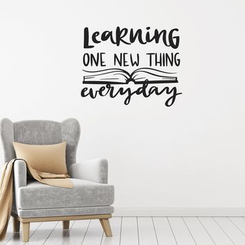 Vinyl Wall Decal Learning Quote Book School Classroom Study Decor Stickers Mural (ig5476)
