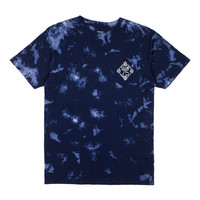 HUF - HUF X CLUB 75 WASH TEE // BLEACHED NAVY
