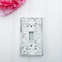Single Switch Plate or Outlet Cover - Shabby Chic Switchplate - Light Cover - Outlet Cover - Outlet Plate