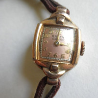 Feminine Charm 1930s Gruen Elegant Ladies Rose Gold Watch Art Deco // Vintage 30s/40s Dress Watch