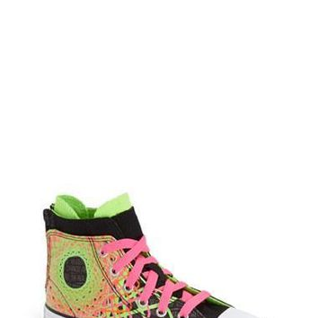 Girl's Converse Chuck Taylor All Star Zip Back High Top Sneaker,