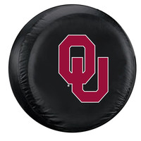 Oklahoma Sooners NCAA Spare Tire Cover (Standard) (Black)