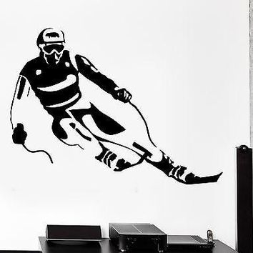 Wall Sticker Winter Sport Ski Skier Vinyl Decal Unique Gift (z3029)