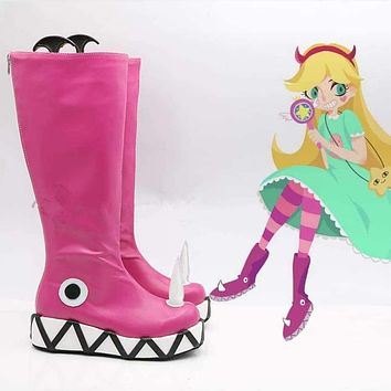 Star vs.the Forces of Evil Princess Star Butterfly Magic Cosplay Shoes Boots Halloween Carnival Party Cosplay