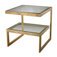 Lazy Susan Gold Leaf Key Side Table - 114-144