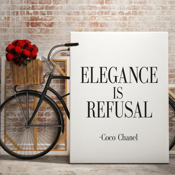 COCO CHANEL Print Inspirational Print Coco Chanel Poster Coco Chanel Quote Typography Quote Home Decor Motivational Poster Coco Chanel