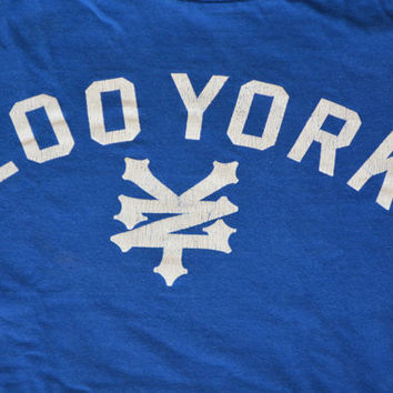 Vintage Blue Zoo York T-Shirt - Retro Cotton Tee Size M Medium