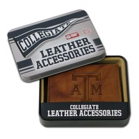 Texas A&M Aggies Leather Bifold Wallet (Brown)
