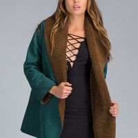 Sure In Shearling Faux Suede Coat