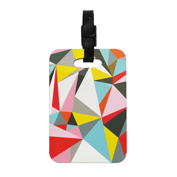 "Fimbis ""Mosaik"" Multicolor Geometric Decorative Luggage Tag"