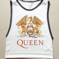 QUEEN Shirt Freddie Mercury Shirt British Rock Band Tank Top Unisex Tank Top Muscle Tee Women Tank Top Muscle Tank Women Shirt Women T-Shirt