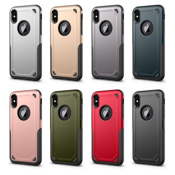 iPhone X Case,Souldio [Resilient Shock Absorption] [Carbon Fiber Design] Cell phone Cover/ Cushion/Cases, Shockproof Slim Anti-Scratch Protective Kit for Apple iPhone X