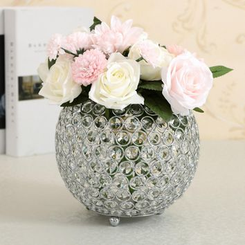 Crystal Tea Light Candle Holders for Wedding Table Centerpieces Dining Room Christmas Home Decorative Candle Lantern