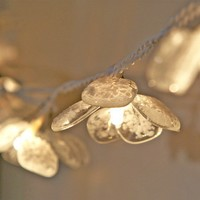 Petal Fairy Lights glass with white glass dust by redbrickglass