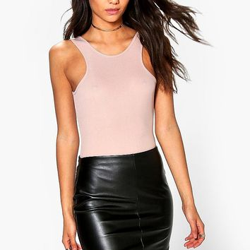 Tall Millie Leather Look Mini Skirt | Boohoo
