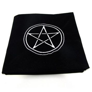Family Friends party Board game 600x600mm Altar Pentacle Sun Tarot Cards Party Table Cloth Tablecloth Divination Wicca Velvet Tapestry  play mat red AT_41_3