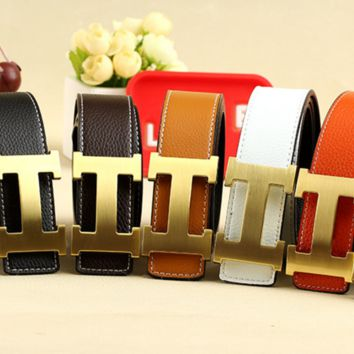 Hermes cute casual men's and women's leather belts