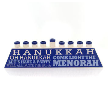 Religious Hanukkah Menorah Christmas Decor