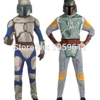 DCCKH6B 1 X Star Wars Boba Fett Cosplay Bounty Hunter Costume Cosplay party Costume with Mask For Cosplay For Man
