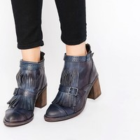 Free People Fringe Front Chunky Heeled Boots