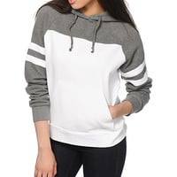 Obey No Name Grey & White Colorblock Hoodie