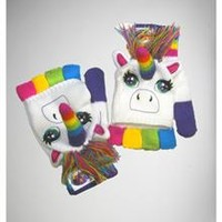 Lisa Frank Rainbow Unicorn Gloves