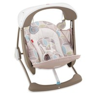 Fisher-Price® Deluxe Take-Along™ Swing and Seat in Mocha Swirl